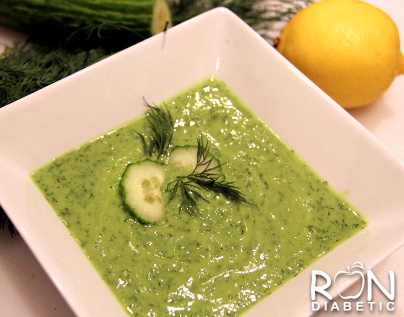 Авокадо огуречный суп