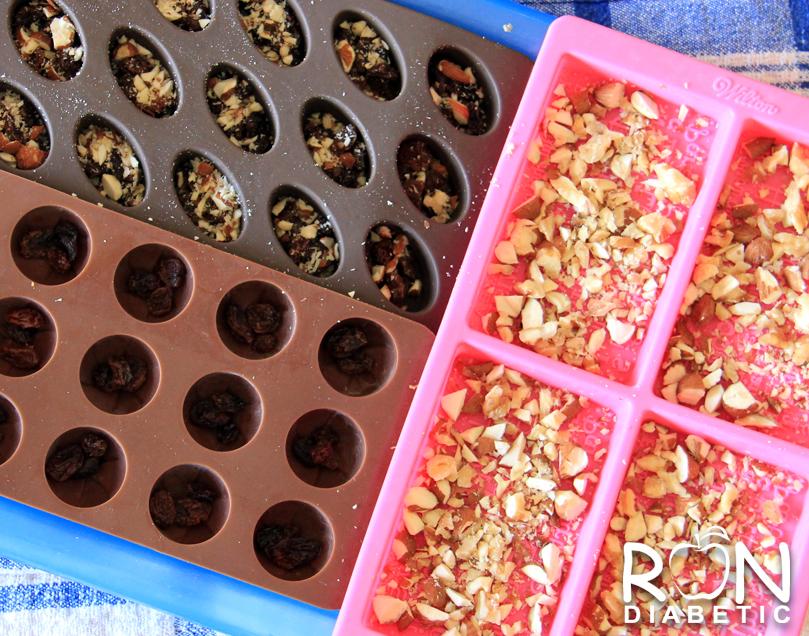 Домашний шоколад в силиконовых формочках