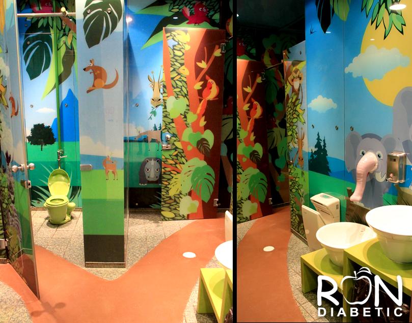 Детский туалет. Dizengoff Мол. Тель-Авив