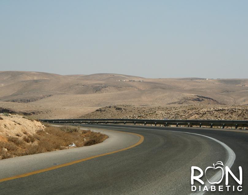 Дорога ведущая к Мертвому морю