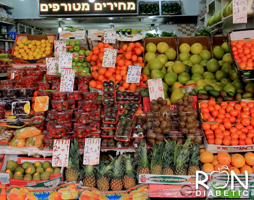 Овощные лавки в центре Тель-Авива