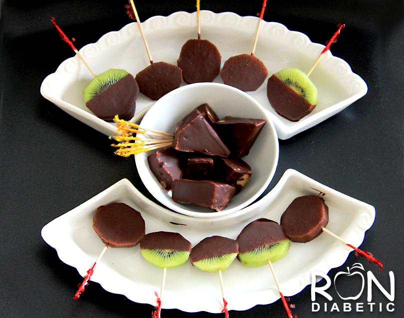 Ананас и киви в шоколаде
