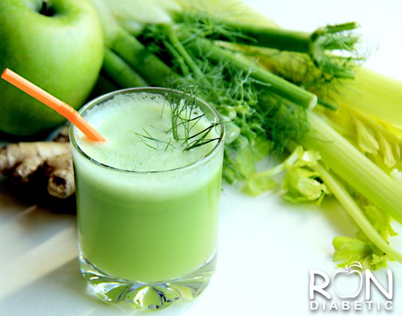 Зеленый и полезный сок из фенхеля, яблок и сельдерея