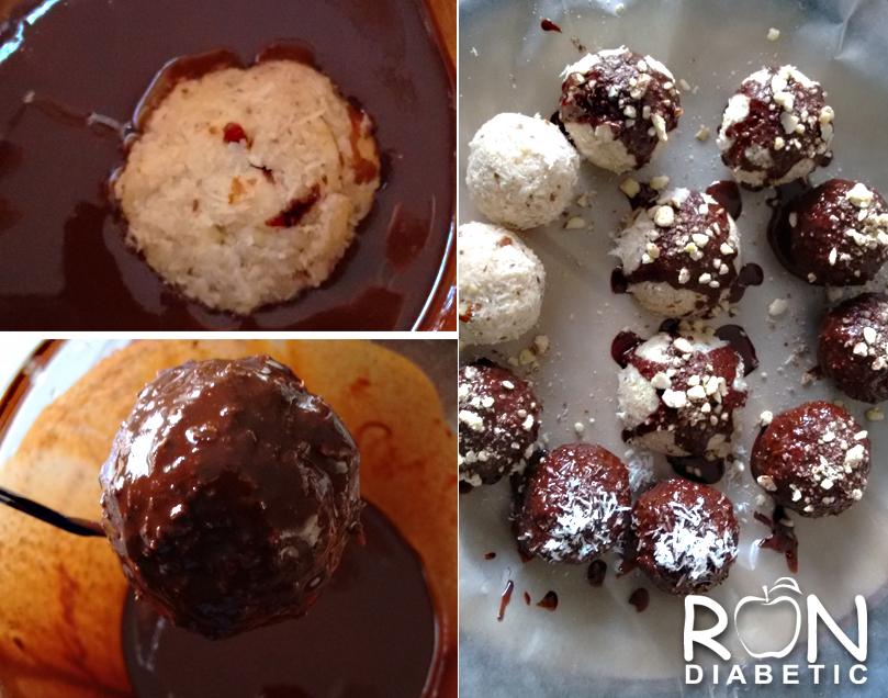 рецепт кокосово-миндального печенья без выпечки в шоколаде и без