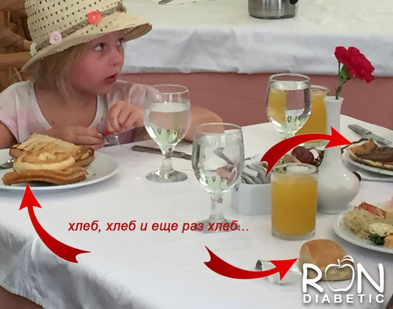 Завтрак американской семьи - хлеб, хлеб и еще раз хлеб...