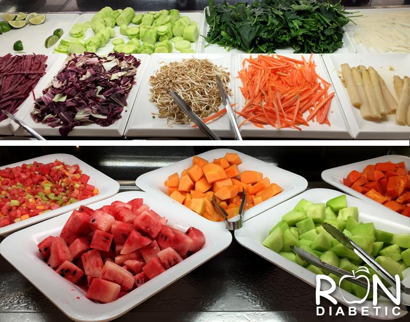 Свежие фрукты и овощи в мексиканских гостиницах с системой