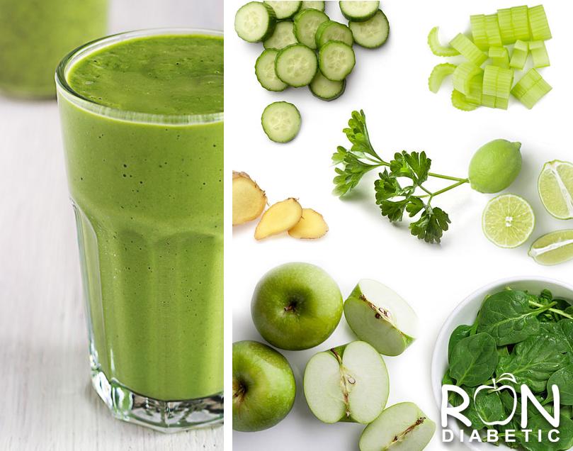 Ну очень полезный зеленый коктейль для диабетиков
