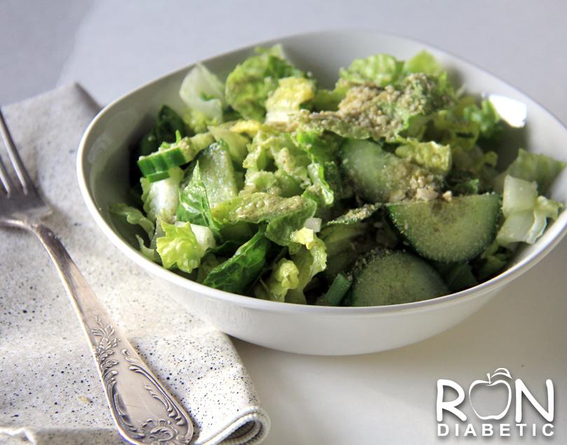 Весенний зеленый салат